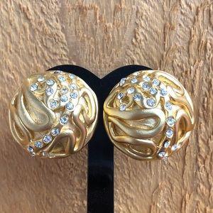 Norma Jean 1980's Vintage GOLDTONE Clip Earrings
